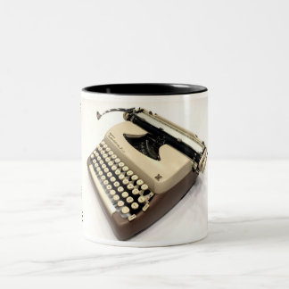 Tower Extended Carriage typewriter Two-Tone Coffee Mug