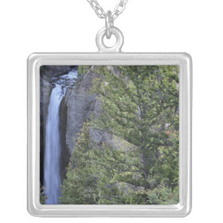 Tower Falls, Yellowstone National Park, Wyoming Silver Plated Necklace