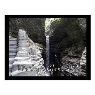 Towering Waterfall Watkins Glen Postcard