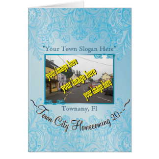 Town City Homecoming Aquamarine Commemorative Card
