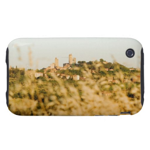 Town on a hill, San Gimignano, Siena Province, iPhone 3 Tough Case