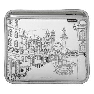 Town Square Fountain iPad Sleeve