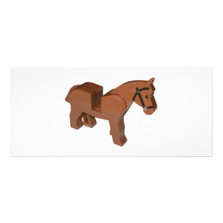 Toy Brick Horse Personalized Rack Card