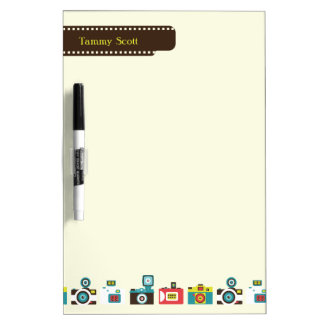 Toy Cameras Personalized Dry Erase Board