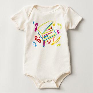 Toy_Piano Baby Bodysuit