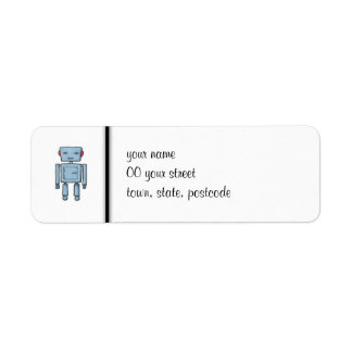 Toy Robot Return Address Label