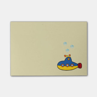 Toy Submarine with 3 Water Bubbles Post-it® Notes