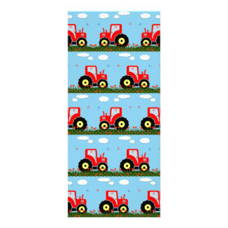Toy tractor pattern personalised rack card