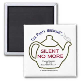TP0106 Silent No More Proud Member Chattering Clas Square Magnet