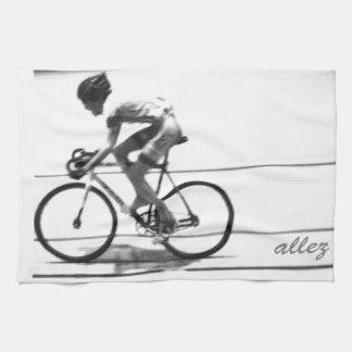 Track Cyclist Tea Towel