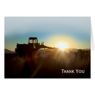 Tractor at Sunrise Note Card