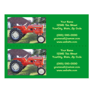 Tractor Bookmarker / Business Cards - Customize!