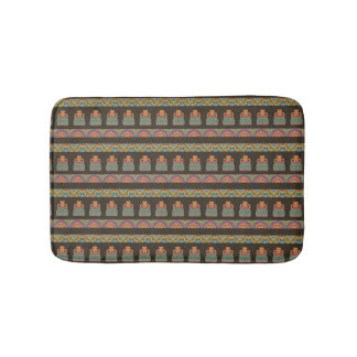 Traditional African Tribal Pottery Pattern Bath Mat