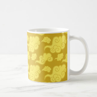 Traditional Asian/Chinese Golden Cloud Pattern Coffee Mug