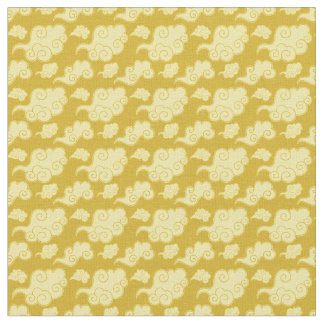 Traditional Asian/Chinese Golden Cloud Pattern Fabric
