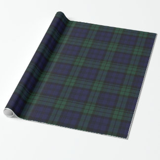 Traditional Black Watch Plaid Wrapping Paper