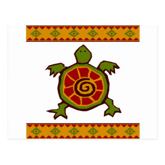 traditional border swirly turtle.ai postcard