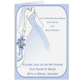 Traditional Bridal Shower Invitations Cards