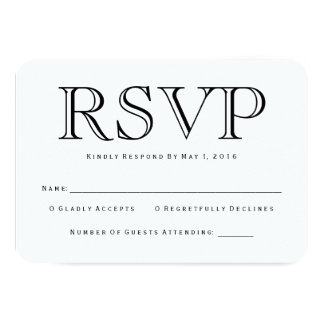 Traditional Calson RSVP Card
