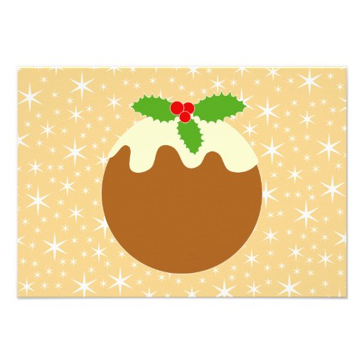 Traditional Christmas Pudding. Invites