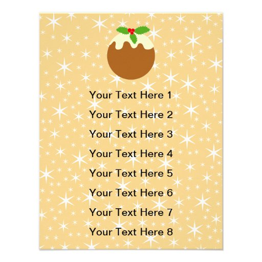Traditional Christmas Pudding. Personalized Invite
