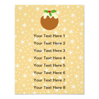 Traditional Christmas Pudding. 4.25x5.5 Paper Invitation Card
