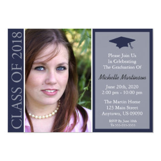 Traditional Class Of 2018 Graduation (Midnight) Card