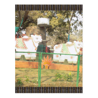 Traditional Cow Statue Art from Indian Suraj Kund Postcard