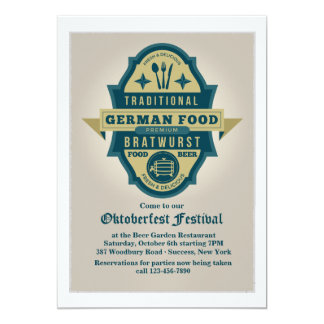 Traditional German Food Invitation