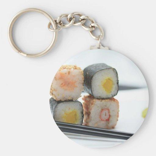 Traditional Japanese Sushi Keychain