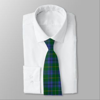Traditional Johnston Tartan Plaid Monogram Tie