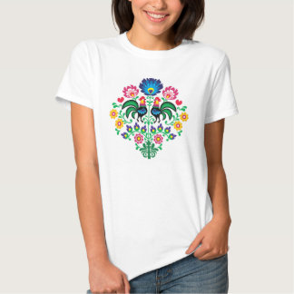 Traditional Polish floral folk embroidery pattern T Shirts