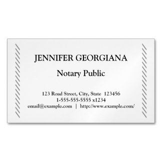 Traditional & Simple Notary Public Magnetic Business Card