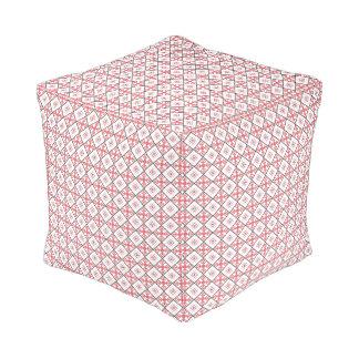 Traditional Slavic Patterns Spun Cubed Pouf
