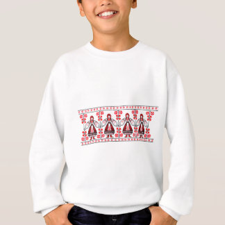 Traditional Ukrainian embroidery ukraine girls Sweatshirt