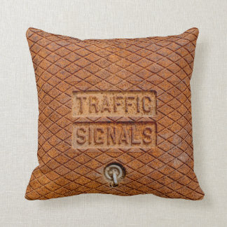 Traffic Signals in Rust Cushion