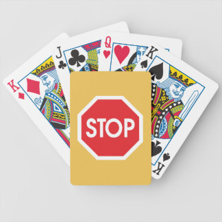 Traffic stop sign (infrastructure road works) poker deck