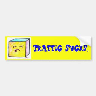 Traffic Sucks Bumper Sticker