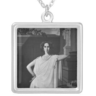 Tragedy or, Portrait of Rachel, c.1854 Silver Plated Necklace