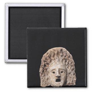 Tragic mask square magnet