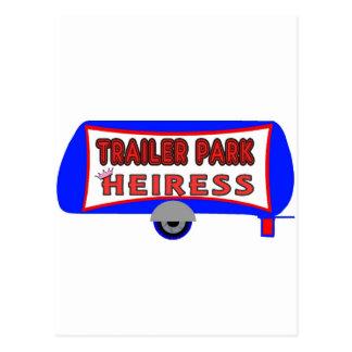 Trailer Park Heiress Postcard