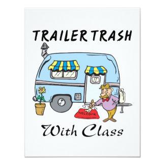 trailer park trash with class custom invites