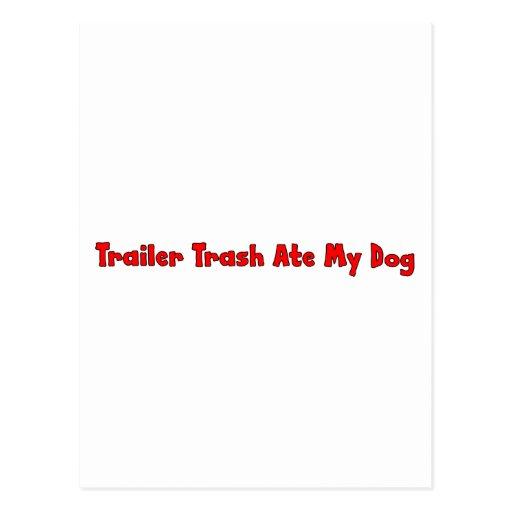 Trailer Trash Ate My Dog Post Card