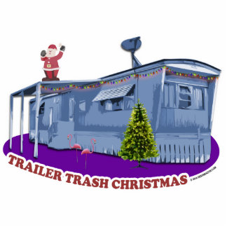 Trailer Trash Christmas Cutout Ornament Photo Sculptures