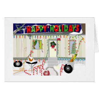 Trailer Trash Christmas Greeting Card