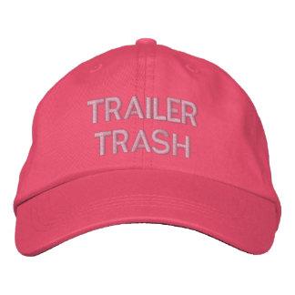 TRAILER TRASH EMBROIDERED BASEBALL CAP