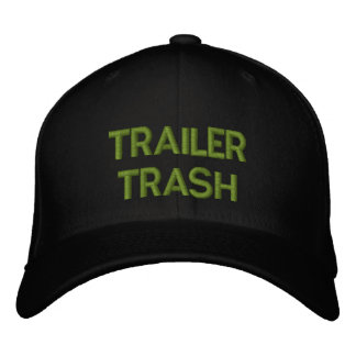 TRAILER TRASH EMBROIDERED CAP