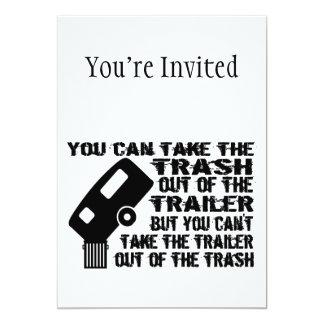 "Trailer Trash 5"" X 7"" Invitation Card"