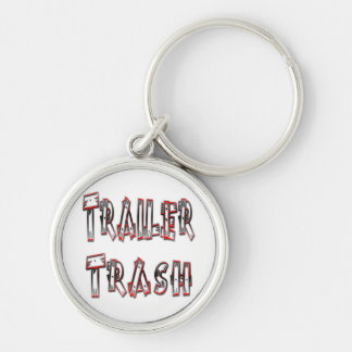 Trailer Trash Silver-Colored Round Key Ring