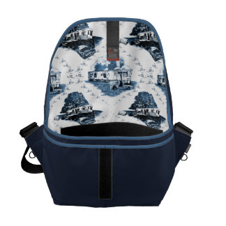 Trailer Trash Toile Commuter Bags